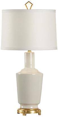Wildwood Dimitri Table Lamp - Snow/Gold