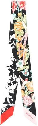 Salvatore Ferragamo floral hair scarf