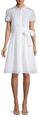 Tommy Hilfiger Textured Cotton Shirt Dress
