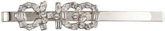 Jimmy Choo YK - CLIP Metal Hair Clip with Clear Crystal CHOO Logo