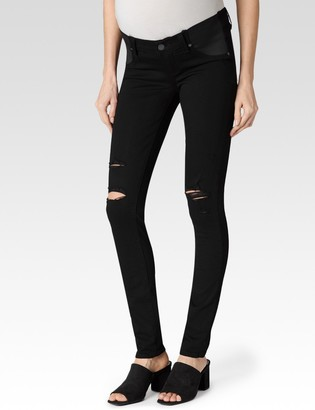 Paige Verdugo Ultra Skinny Maternity-Black Shadow Destructed