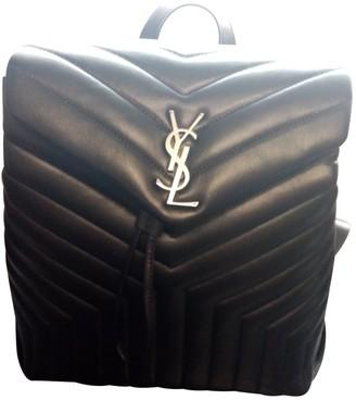 Saint Laurent Loulou Black Leather Backpacks