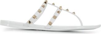 Valentino Rockstud thong-strap sandals