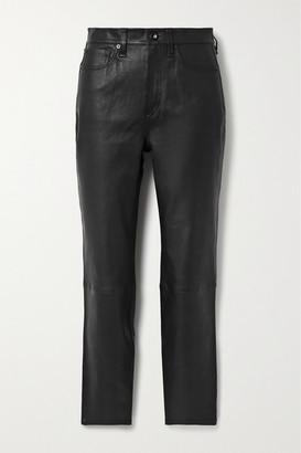 Rag & Bone Nina Skinny Leather Pants - Black