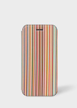 Paul Smith 'Signature Stripe' Leather iPhone 6/6S/7/8 Wallet Case