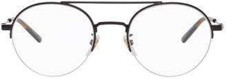 Gucci Black Semi-Rimless Glasses