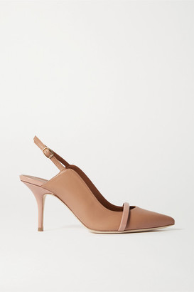 Malone Souliers Marion 70 Leather Slingback Pumps - Neutral