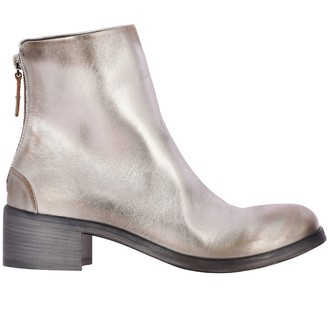 Marsèll Listo Ankle Boots In Laminated Leather With Macro Zip