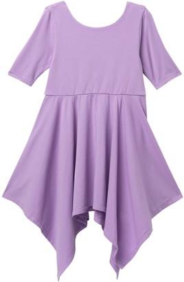 Tea Collection Solid Handkerchief Hem Dress (Toddler & Little Girls)