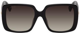 Gucci Black Square Thin Sunglasses