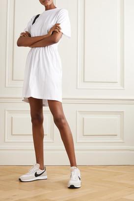 Ninety Percent Net Sustain Open-back Organic Cotton-jersey Mini Dress - White