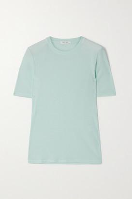 Rag & Bone Ribbed Cotton And Modal-blend T-shirt - Blue