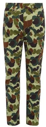 Junya Watanabe Camouflage-print Slim-leg Jeans - Green