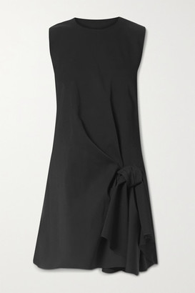 Carolina Herrera Draped Wool-blend Mini Dress - Black