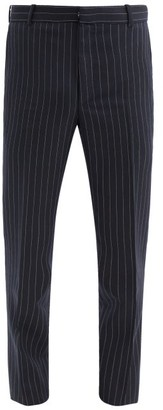 Alexander McQueen Pinstriped Wool-twill Suit Trousers - Navy White