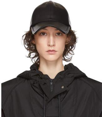 Juun.J Black Leather Baseball Cap