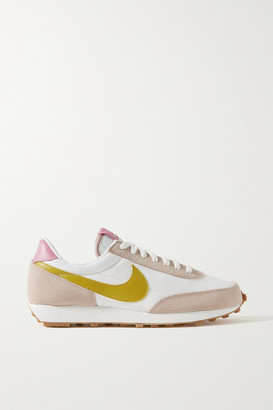 Nike Daybreak Shell, Suede And Leather Sneakers - Beige