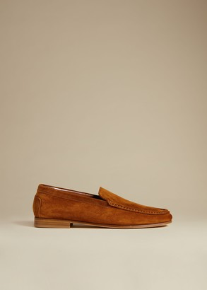 KHAITE The Darien Loafer in Caramel Suede