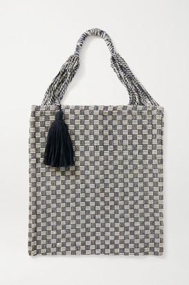 Nannacay Bianca Tasseled Crocheted Cotton-blend Tote - Navy