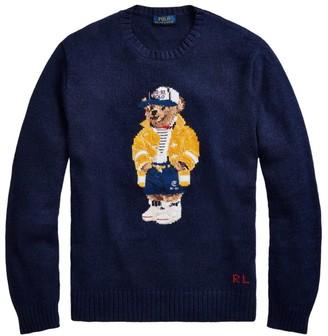 Polo Ralph Lauren Regular-Fit Casual Bear Cotton-Linen Sweater