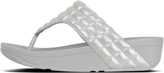 FitFlop Lulu Padded Shimmysuede Toe-Post Sandals