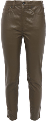 Rag & Bone Nina Cropped Stretch-leather Skinny Pants