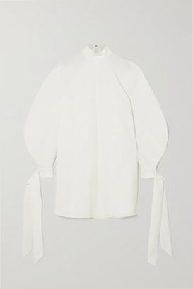 Carolina Herrera Stretch-crepe Mini Dress - White