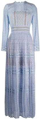 Self-Portrait Pleated Lace Dress
