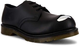 Raf Simons x Dr. Martens Cut Out Steel Toe Shoes in Black | FWRD