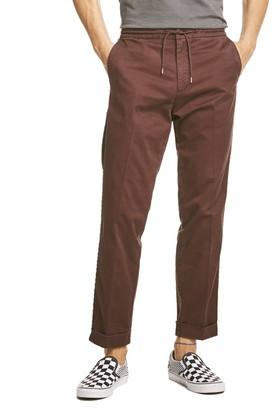 Todd Snyder Drawstring Side Stripe Trouser in Burgundy