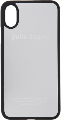 Palm Angels Silver and Black Mirror iPhone X Case