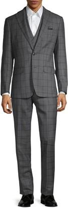 Tallia Standard-Fit 3-Piece Wool-Blend Suit