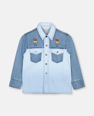 Stella Mccartney Kids Rainbow Monster Denim Shirt, Men's