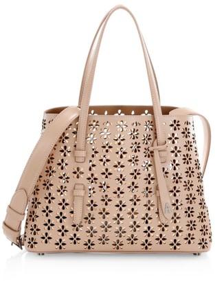 Alaia Small Mina Perforated Leather Tote
