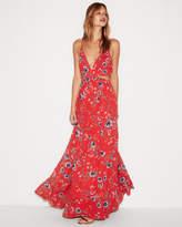 express-floral-cut-out-elastic-waist-maxi-dress