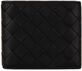 Bottega Veneta Leather Wallet in Black | FWRD