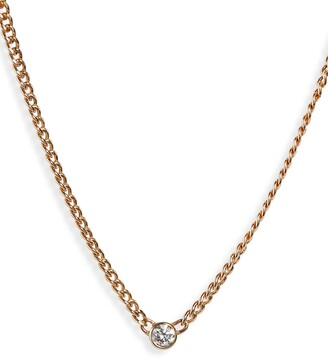 Chicco Zoe Bezel Diamond Curb Chain Necklace