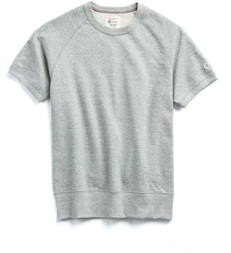 Todd Snyder + Champion Terry Short Sleeve Sweatshirt in Light Grey Mix