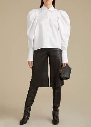 KHAITE The Charlie Short in Black Leather