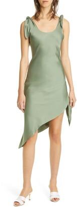 Cult Gaia Delilah Asymmetrical Cotton & Linen Dress