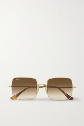Ray-Ban Square-frame Gold-tone Sunglasses
