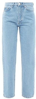 A.P.C. Martin High-rise Stonewashed Straight-leg Jeans - Light Denim