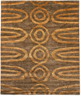 Jonathan Adler For Kravet Orange Vertebrae Area Rug