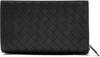 Bottega Veneta Intrecciato Woven-leather Pouch - Mens - Black