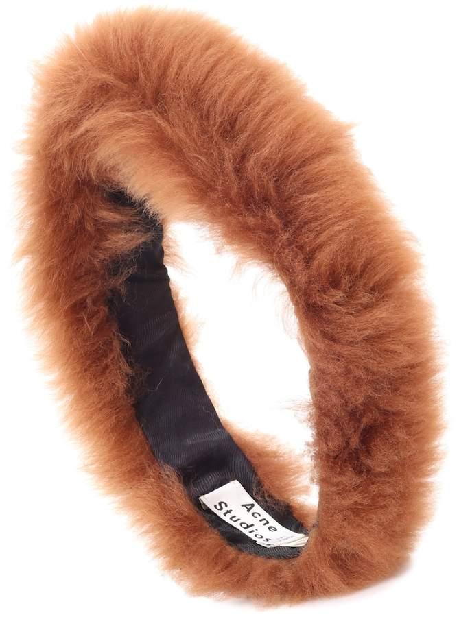 Acne Studios Linda shearling headband