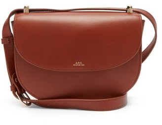 A.P.C. Geneve Cross-body Smooth-leather Bag - Tan