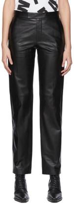 Helmut Lang Black Leather Glazed Suit Trouser
