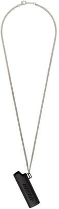 Ambush Black and Silver Small Lighter Case Necklace