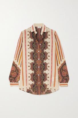 Etro Printed Silk Shirt - Ivory