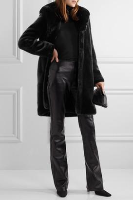 FAZ NOT FUR Dark Knight Faux Fur Coat - Black